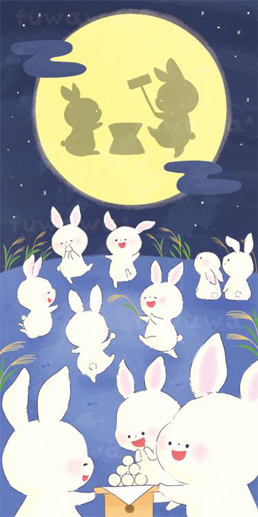 お月見とうさぎ